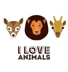 Love pet design vector image
