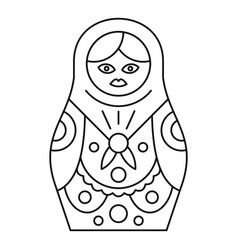 nesting doll icon outline style vector image