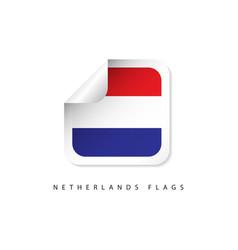 netherlands label flags template design vector image