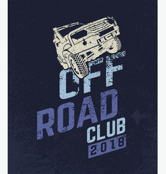 off road car club vector image