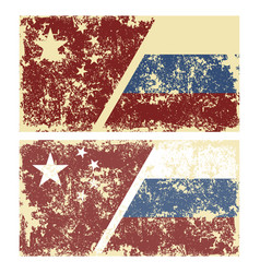 old scratched flags of vector image