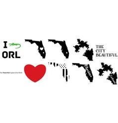 Orlando florida us map vector