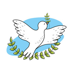 Peaceful dove to worldwide harmony element vector