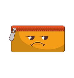 Pencil holder bag comic character vector