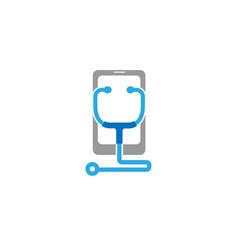 Phone repair stethoscope symbol logo vector