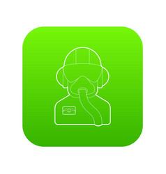 pilot icon green vector image