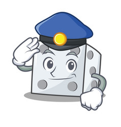 Police dice character cartoon style vector