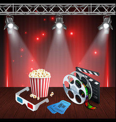 realistic cinema background vector image