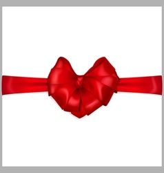 Red bow with ribbon vector