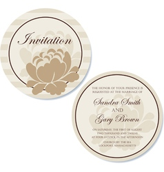Round invitation broun vector