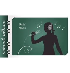 School album singing vector