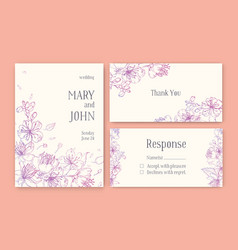 Set of gorgeous templates for save the date card vector