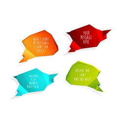 Set of speech bubbles with place for your own text vector image