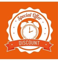 Special offer discount orange stamp banner vector
