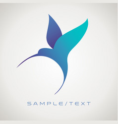 Stylized image hummingbird good for logo vector