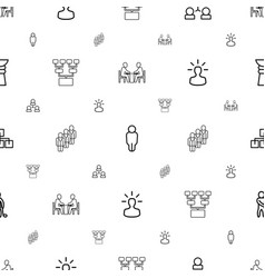 team icons pattern seamless white background vector image