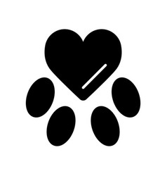 Template mark veterinary care in form heart vector