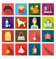 textile cosmetology restaurantand other web icon vector image