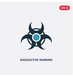 Two color radioactive warning icon from signs vector
