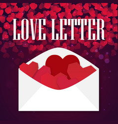 Valentine day love letter of heart image vector