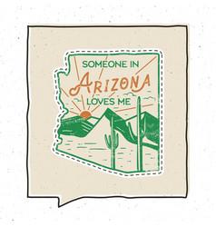vintage adventure arizona badge vector image