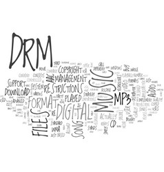 what is drm text word cloud concept vector image