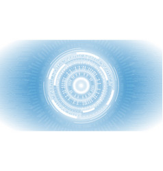 White blue abstract technology vector