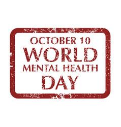 World mental health day vector