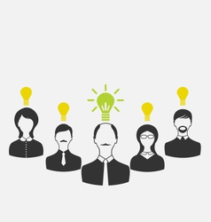 concept of leadership and new idea Business people vector image