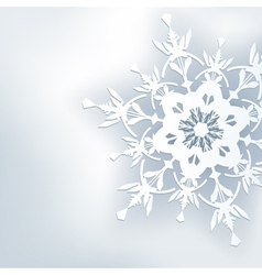 Stylish abstract background 3d ornate snowflake vector image vector image