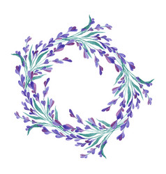 watercolor lavender wreath vector image