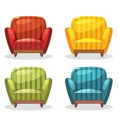 armchair soft colorful homemade set 1 vector image vector image