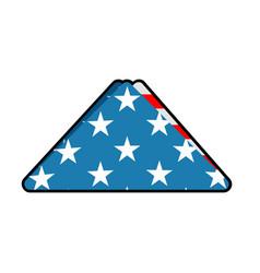 folded us flag symbol of mourning national symbol vector image