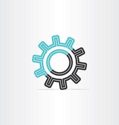 gear icon logotype symbol design vector image