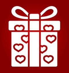 love present glyph icon valentines day vector image vector image