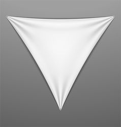White stretched triangular shape with folds vector image vector image