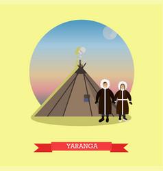 yaranga concept in flat style vector image