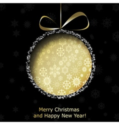 Abstract golden Christmas ball vector image vector image