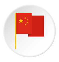 chinese national flag icon circle vector image vector image