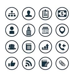Company icons universal set vector