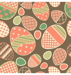Easter retro seamless border with eggs vector image vector image