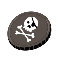 pirate black mark icon vector image