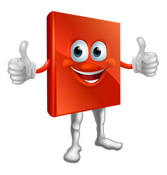 red book man doing thumbs up vector image vector image