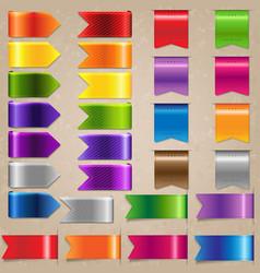 web satin ribbon set vector image