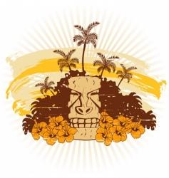 beige and orange Hawaii grunge vector image