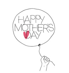 child hold the thread of balloon with greeting vector image