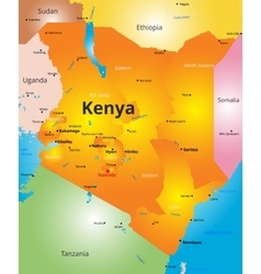 Color map of kenya country vector