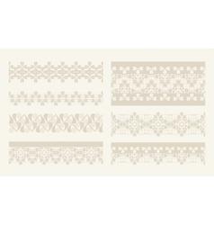 lacy vintage design elements lace seamless vector image
