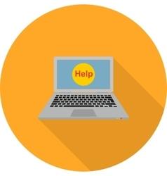 Online Help vector image vector image