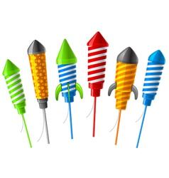 rocket fireworks vector image